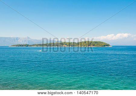 Lazaretto Island located two miles northeast of Corfu. Greece.