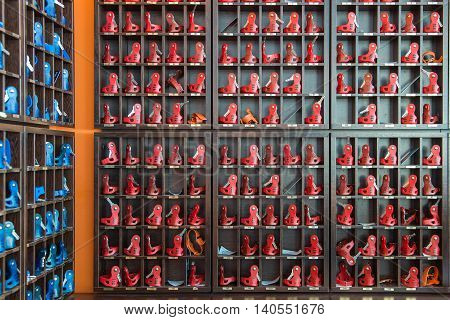 Key storage box with many keys hang