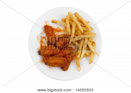 Buffalo Wings and French Fries