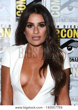 LOS ANGELES - JUL 22:  Lea Michele arrives to the Comic Con 2016 -