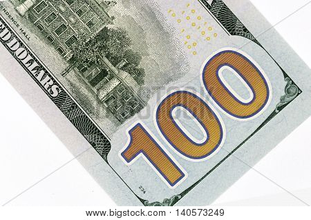 American Currency, american 100 dollars banknote, reverse face