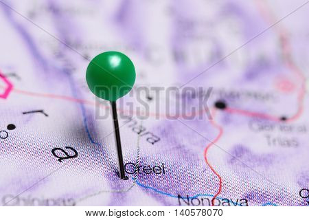 Creel pinned on a map of Mexico