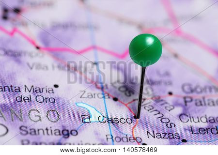 El Casco pinned on a map of Mexico