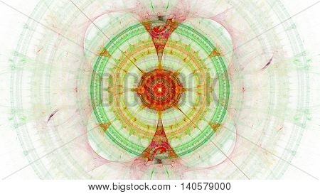 Cabalistic incredible designs. 3D surreal illustration. Sacred geometry. Mysterious psychedelic relaxation pattern. Fractal abstract texture. Digital artwork graphic astrology alchemy magic