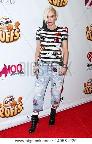 NEW YORK-DEC 12: Singer Gwen Stefani attends Z100's Jingle Ball 2014 at Madison Square Garden on December 12, 2014 in New York City.