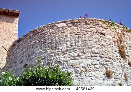 old fortress of antibes france with blue sky