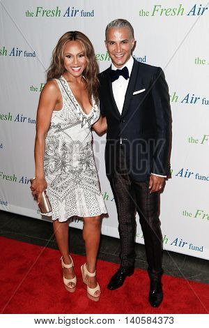 NEW YORK-MAY 29: Jay Manuel (R) and Deborah Cox attend the Fresh Air Fund Spring Gala Salute at Pier Sixty at Chelsea Piers on May 29, 2014 in New York City.