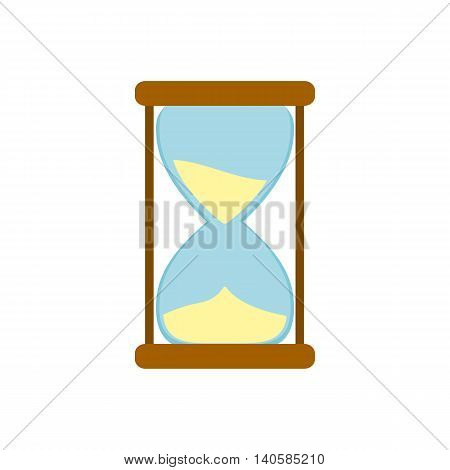 Hourglass icon in flat style on a white background