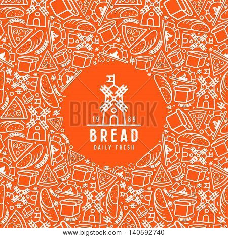 Stock Vector Bakery Cover For Package