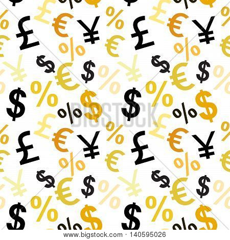 Money Signs Seamless Pattern.