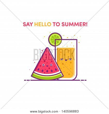 Illustration Say Hello To Summer