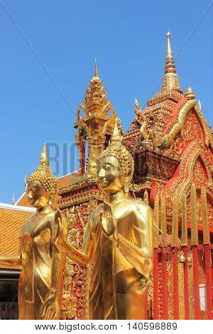 Doi Suthep, Templo no cimo da montanha em Chiang Mai, Tailândia