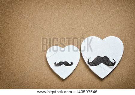Gay holidays concept for Valentine's Day wedding engagement or party invitation