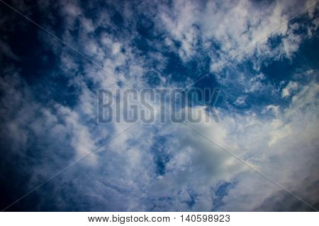 White clouds in the blue sky, nature