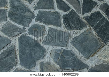 Granite flagstone pavement wall background rock concept