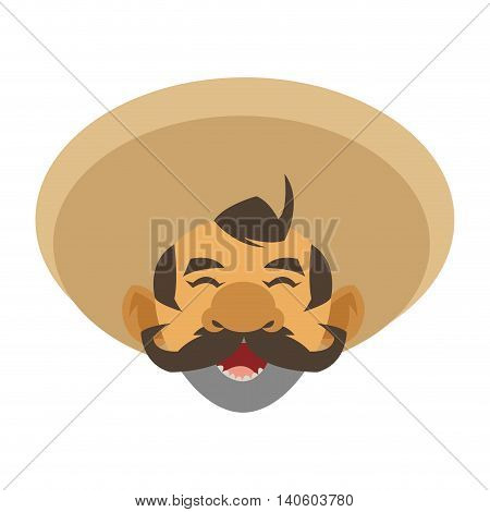 flat design mariachi musician icon vector illustration