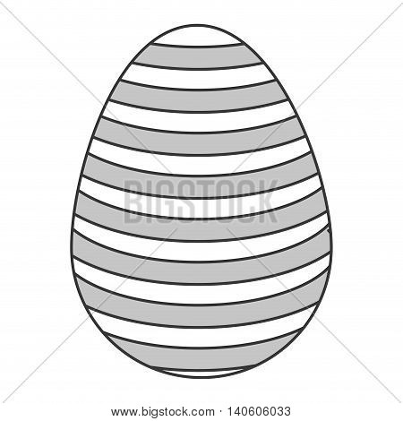 flat design easter egg icon vector illustration