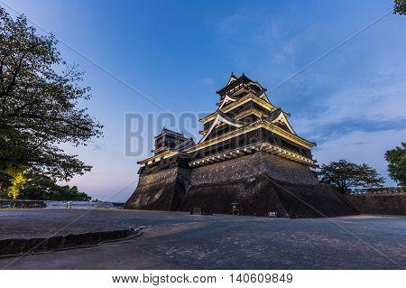 Kumamoto Castle In Kumamoto City, Kyushu, Japan.