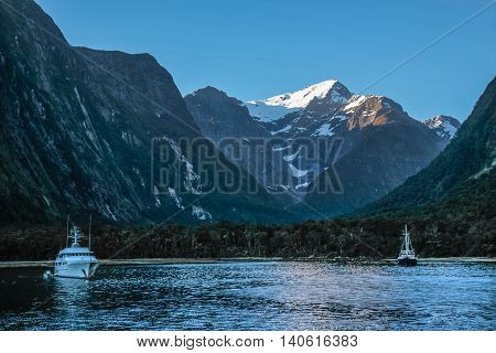 Blue Hour In The Milford Sound