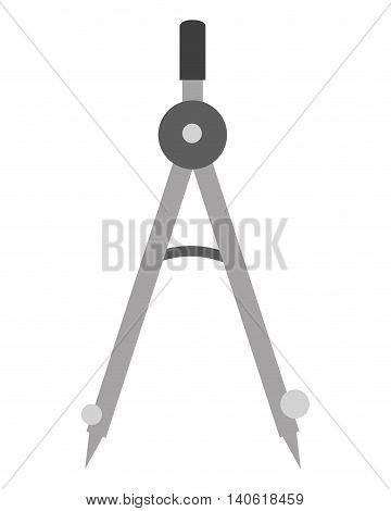 flat design measuring compass icon vector illustration