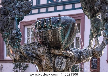 Fountain With Wine Vessel