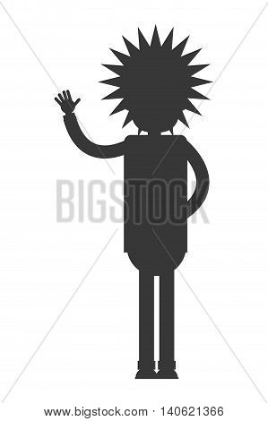 flat design albert einstein cartoon icon vector illustration