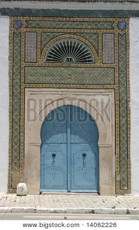 North African Architecture - Blue Doors And Ornaments
