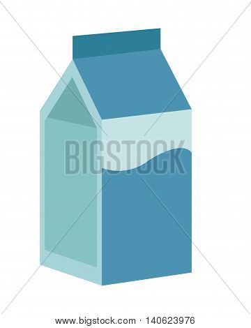 flat design milk carton icon vector illustration