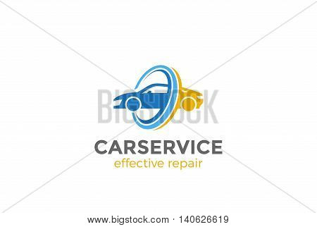 Car Logo abstract design vector. Vehicle repair service icon