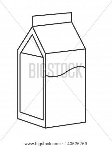 flat design milk carton icon vector illustration