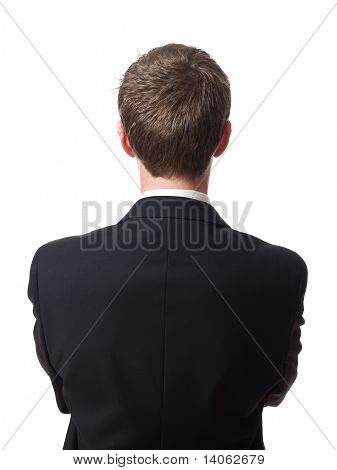 back of businessman