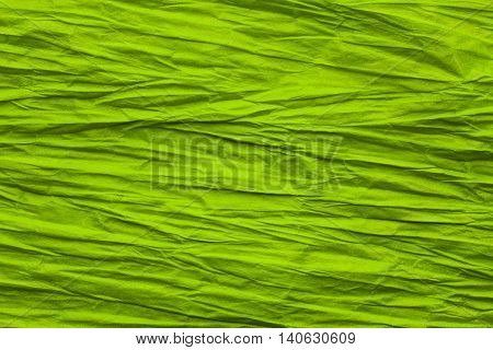 Abstract Paper Crumple Background Rough Crease Green Rumple Texture