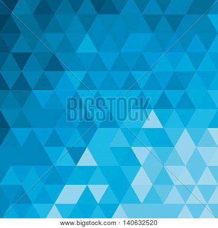 flat design blue tone geometric pattern icon vector illustration
