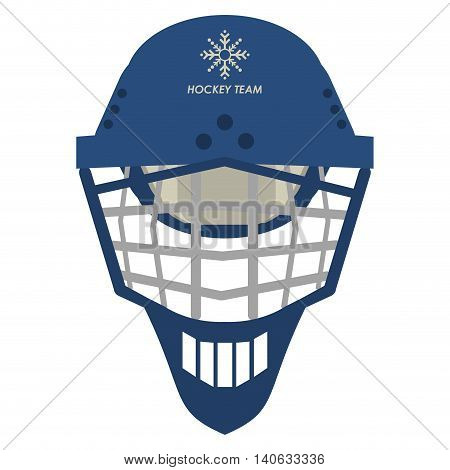 flat design hockey helmet icon vector illustration