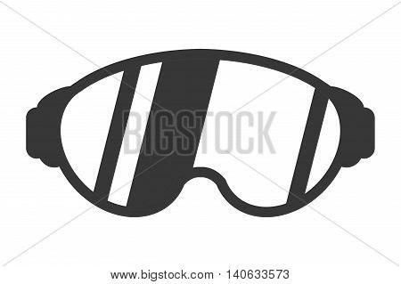 flat design ski mask icon vector illustration