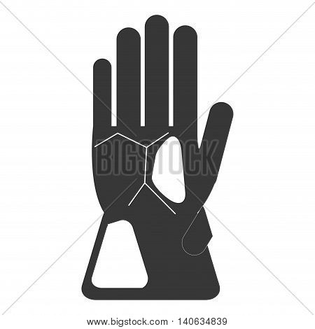 flat design winter gloves icon vector illustration