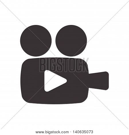 Cinema and Movie concept represented by videocamera icon. Isolated and flat illustration