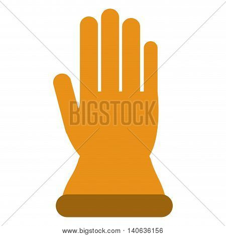 flat design industrial protection gloves icon vector illustration