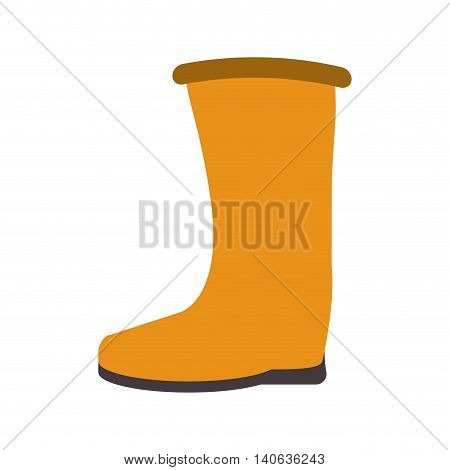 flat design industrial boots icon vector illustration