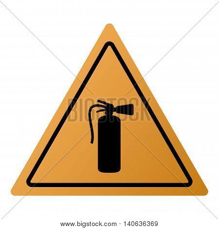 flat design fire extinguisher icon vector illustration sign
