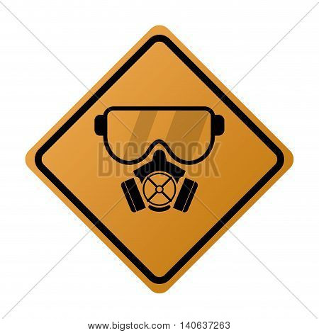 flat design gas mask icon vector illustration sign
