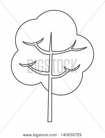 flat design single tree icon vector illustration