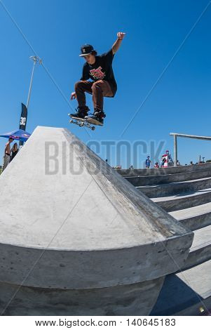 Thiago Monteiro During The Dc Skate Challenge