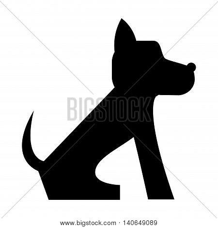flat design cute dog cartoon icon vector illustration