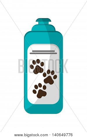 flat design pet shampoo icon vector illustration