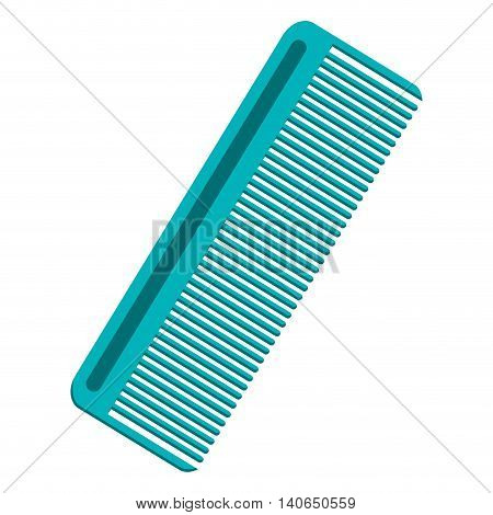 flat design hair comb icon vector illustration