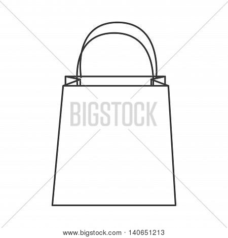 flat design shopping bag icon vector illustration