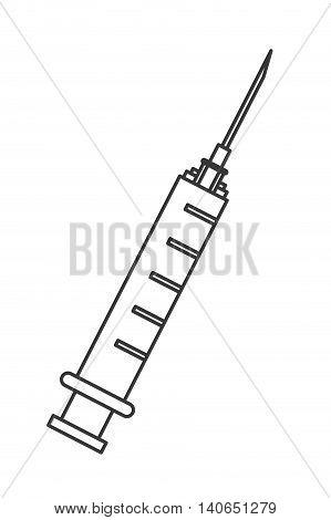 flat design single syringe icon vector illustration