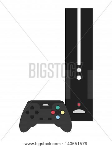 flat design video game console icon vector illustration