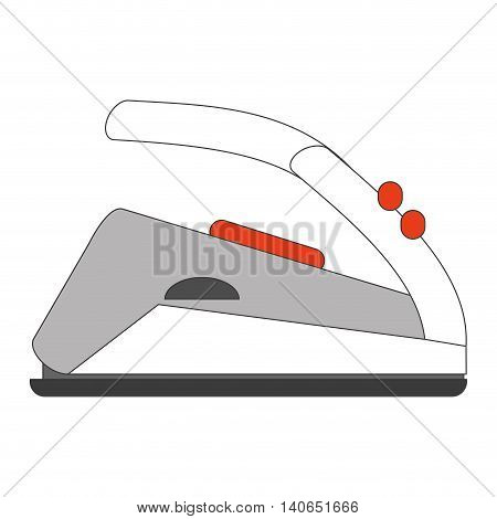 flat design modern iron icon vector illustration
